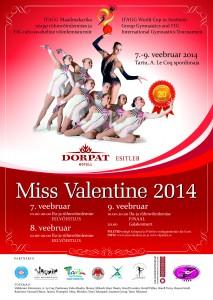 Miss Valentine 2014 plakat A2